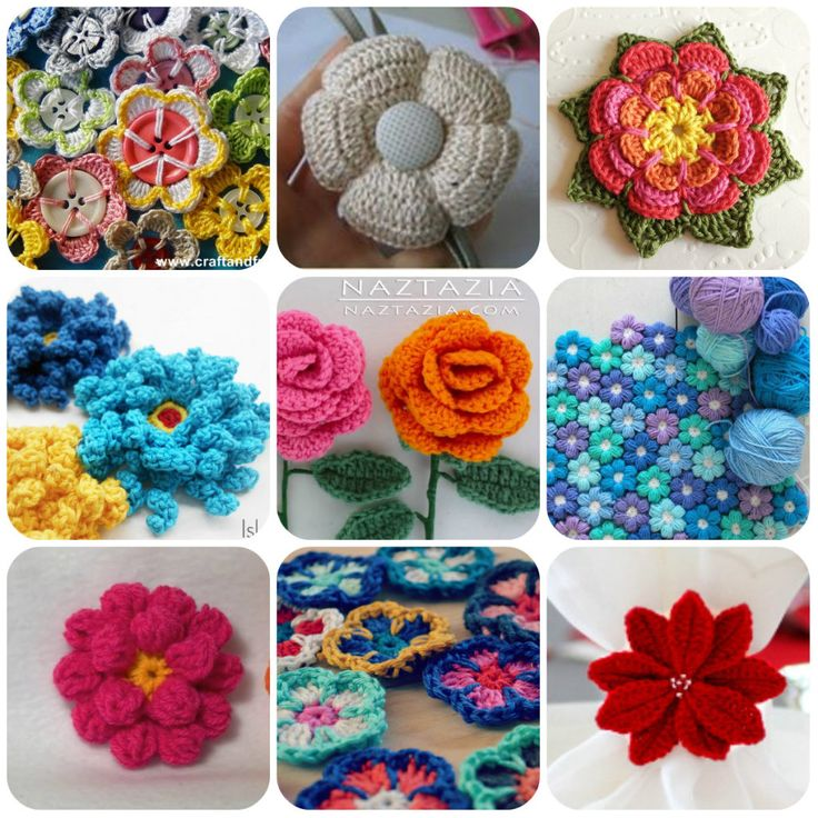 Amigurumi Flower Tutorial : 17 Best images about fiori uncinetto on Pinterest ...