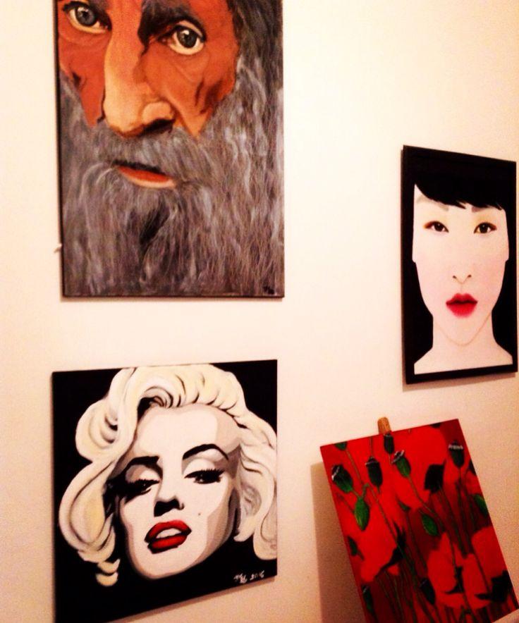 Studio Lucie Nguyen #painting #studio #art #oil #canvas #portrait #poppy #MarilynMonroe
