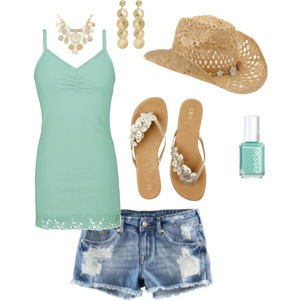 Summer country outfit, created by luvpugs on Polyvore