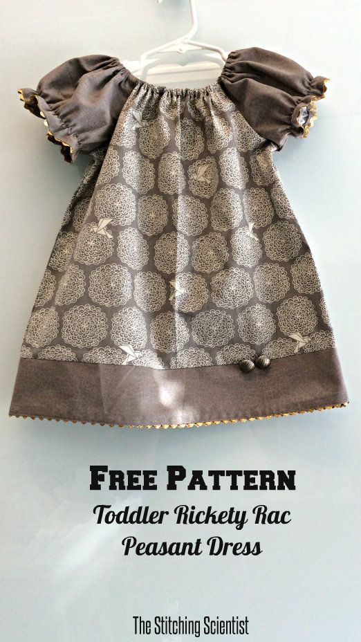 Free Toddler Elegant Rickety Rac Peasant Dress Pattern #peasantdresspattern #freesewingpattern
