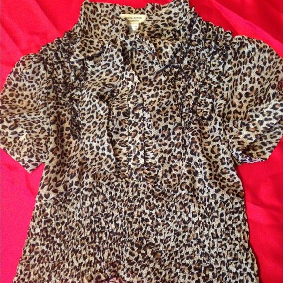 ‼️$2.99 shipping on $30+‼️Animal Print Blouse For the animal print lovers  Size small. 20% off with orders of two or more items plus $2.99 shipping on $30+ till 12/17. trades  PP Tops Blouses