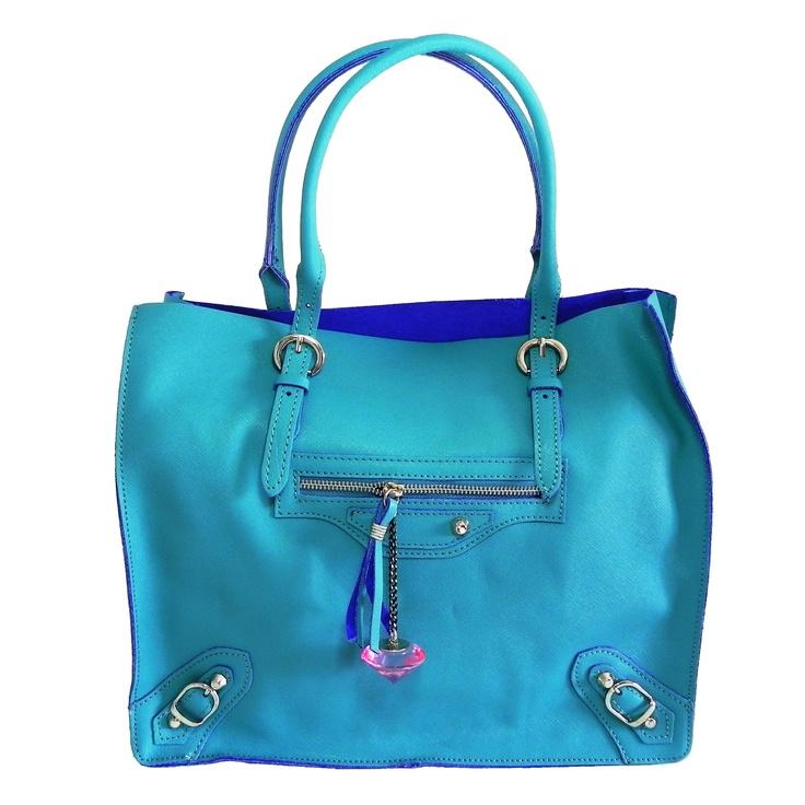 Audrey #borsa da donna made in Italy color blu kelly