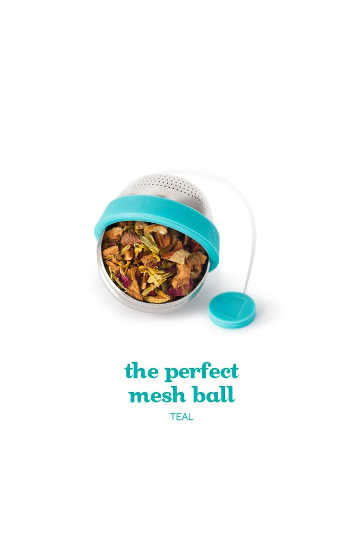 The Perfect Mesh Ball - This in-house designed steeper is bigger, so your teas have more room to expand. We also made the stainless steel mesh finer, so no tea leaf could escape. And we added silicone accents, so it closes with a nice, snug seal.