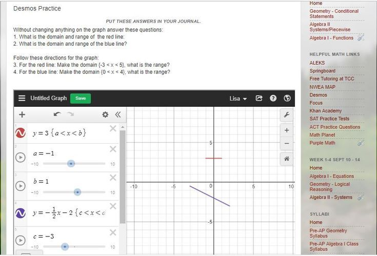 Using Desmos In Your Class Blog Website Graphing Teaching