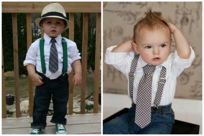 Jeans, weißes Hemd und Krawatte #pullover #kindermode #jungemode #schuh #jeans  – 11Die meisten Style Kombinationen für männliche Babys