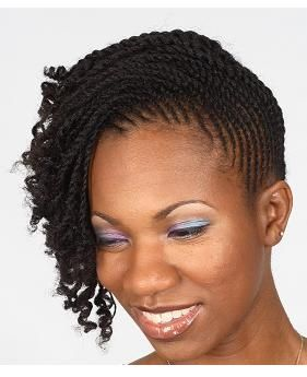Tiny twisted up-do! | Black Women Natural Hairstyles