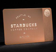 gold plated starbucks membership card.email:cxj4@greatnameplates.com Skype:ssmetalcard03