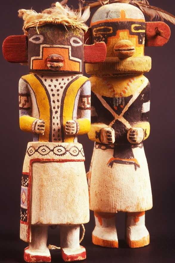 Hopi Lizard and Manawgya Kachina dolls, E3871, E3800, Museum of Northern Arizona, Flagstaff, Arizona Copyright:Chuck Place©  Size:2200x3300 / 5.2MB