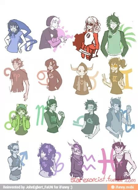 Homestuck gender bends ---> I find this IMMENSELY entertaining. :o)