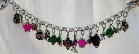 Retro Pinup Girl Charm Bracelet by CharmedbyJoelle on Etsy, $40.00: Retro Pinup, Pinup Girls