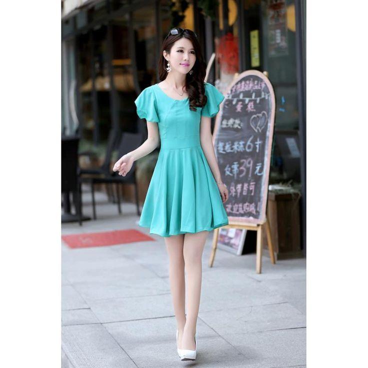 turkuaz renk #japon #style #bayan #elbise tarzı güzelll
