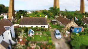 DJI Phantom out of control with tilt shift effect.