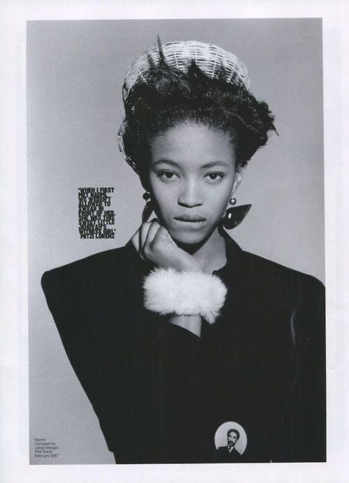 Naomi Campbell styled by Ray Petri.