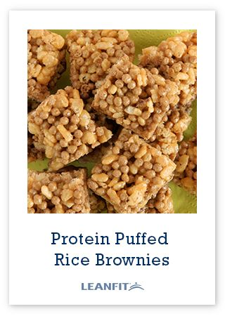 These homemade Puffed Rice Protein Brownies will fuel your gains and your sweet tooth! Mix, freeze, cut & enjoy. This healthy dessert is sugar, dairy, and gluten free.
