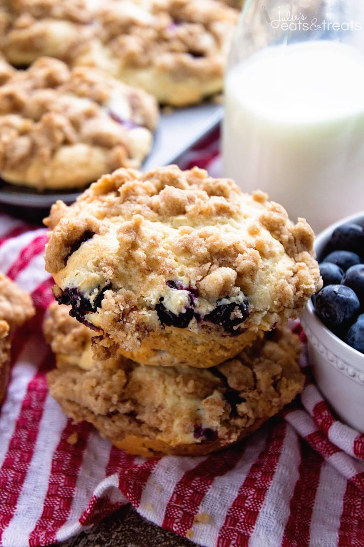 Blueberry Crumb Muffins Recipe