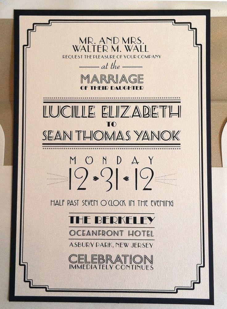 Art Deco Wedding Invitations TemplatesImage Gallery | Image Gallery