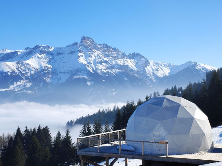 Les Cerniers, SwitzerlandYou may have heard of actual ice hotels—but how about camping out in an ultra-luxurious igloo-like tent in the Swiss mountains? At Whitepod, there's just no competing with the comfortable king-size beds and private terraces that offer sweeping views over Lake Geneva lake–unless it's the the cozy warmth of the authentic woodstoves in each eco-luxury pod.
