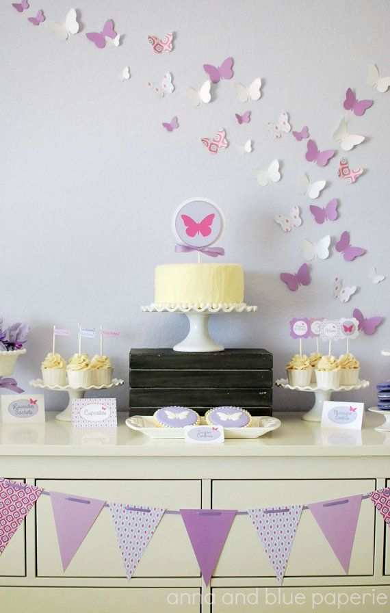 Custom Butterfly Birthday - PRINTABLE DIY Party Collection by anna and blue paperie