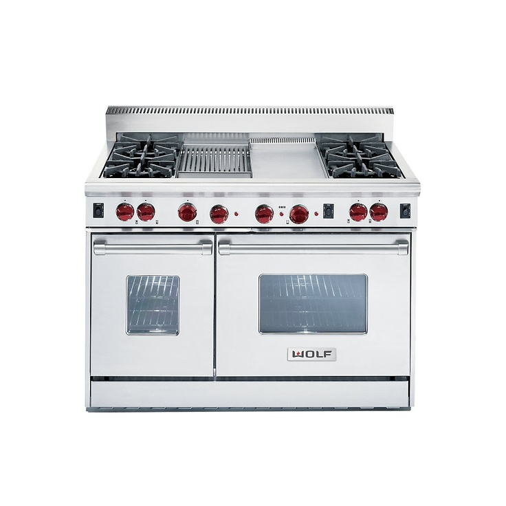 "R486G by Wolf in Huntington, NY - 48"" Gas Range - 6 burners, Griddle"