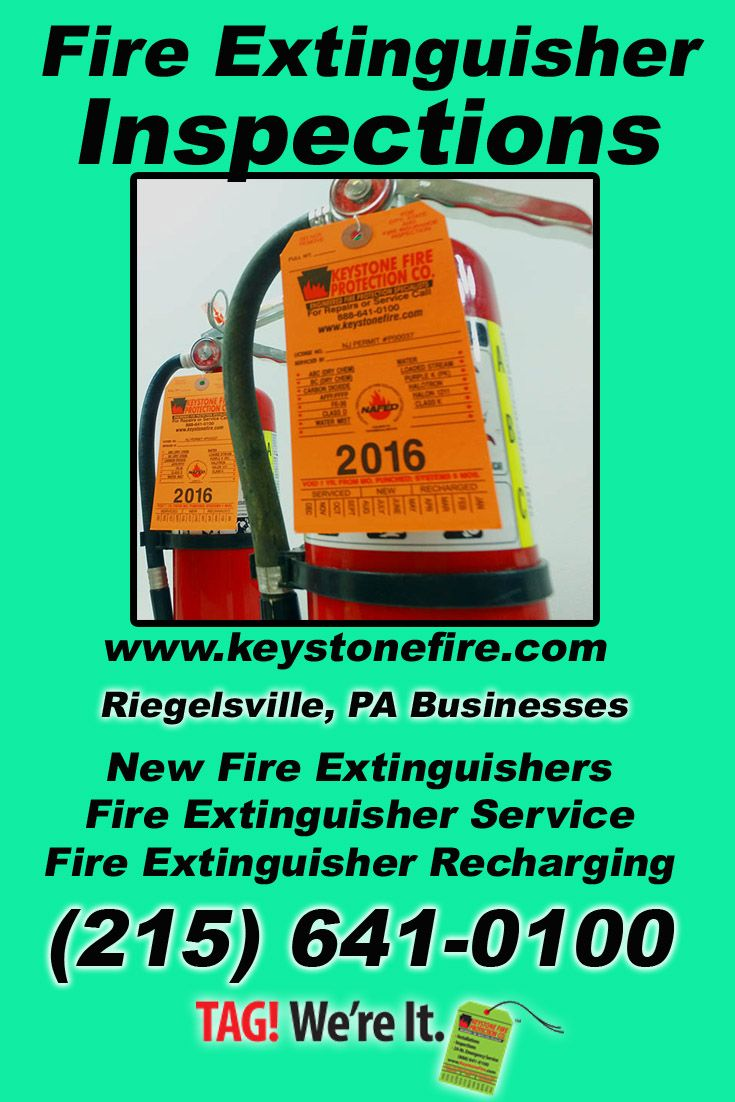 Fire extinguisher inspections riegelsville pa 215 641