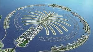 esta es una isla artificial que se llama isla palma y queda en dubai