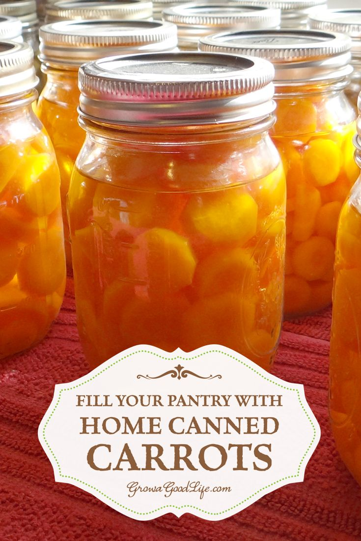 Fill Your Pantry with Home Canned Carrots | Grow a Good Life | Take advantage of the summer harvests to stock your pantry shelves with home canned carrots and build your home food storage.