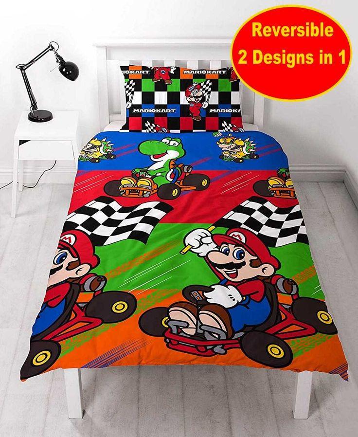 Nintendo Mario Champs Single Rotary Duvet Stamp Single Duvet Cover Single Duvet Duvet Cover Sets