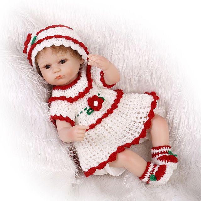 """18 """"bebe bebês reborn bonecas de pano corpo real de silicone vivo da criança bonecas reborn bonecas menina brinquedos presente das crianças"""