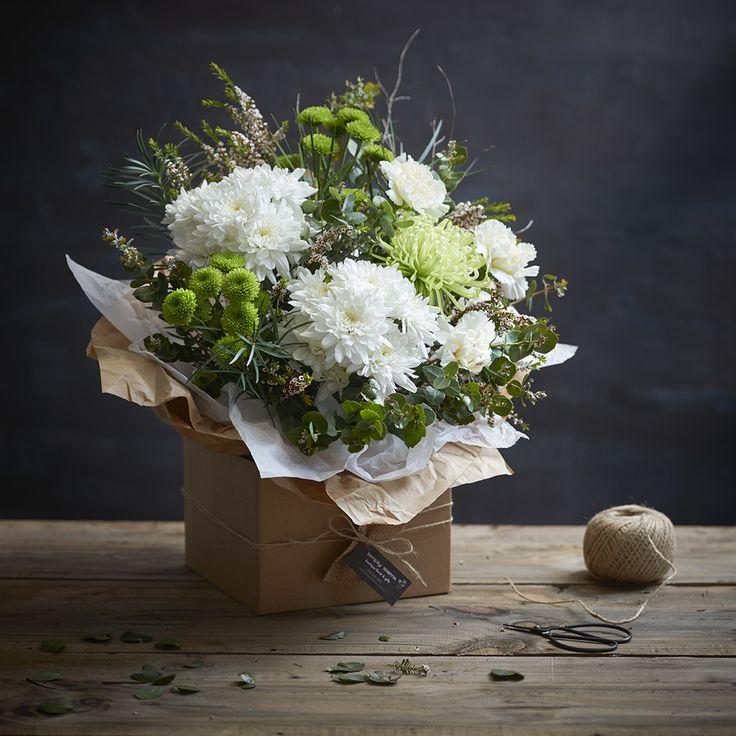 Natural Elegance Green & White Box of Flowers