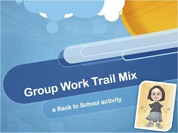 This is a great activity to use in the first week back to school. Food and group work - perfect combination!