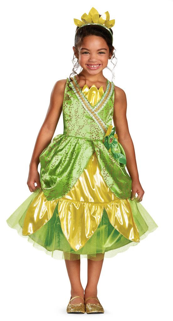 Disney Tiana Deluxe Sparkle Toddler/Child Costume Includes: dress with character cameo, petticoat and headband. Does not include shoes. This is an officially licensed Disney Princess product. Weight (