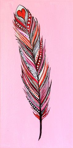 Alisa Burke's Feathers. Make a feather collage
