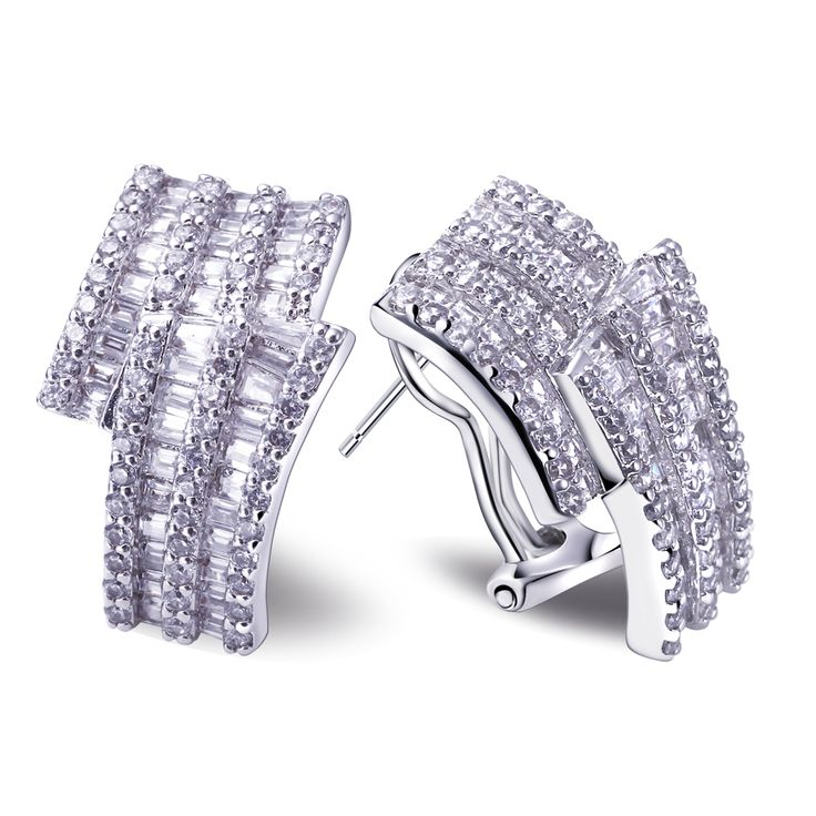 Find More Stud Earrings Information about white gold plated setting AAA cubic zirconia stud earrings for women crystal boucles bijoux Brand Designed Weddings Jewelry,High Quality stud earrings screw back,China stud earrings uk Suppliers, Cheap stud earring backs from HY Fashion Jewelry on Aliexpress.com
