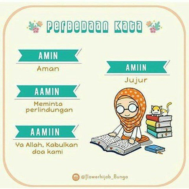 """Seperti kita ketahui Lafadz Aamiin diucapkan didalam dan diluar Shalat serta Aamiin di ucapkan oleh orang yang mendengar Doa orang lain. .. Aamiin termasuk Isim fiil Amr yaitu Isim yang mengandung pekerjaan maka para ulama Juhur mengartikannya dengan """"Allahumma Istajib"""" (Ya ALLAH Ijabah-lah). .. Makna inilah yang paling kuat dibanding makna-makna lainnya seperti bahwa Aamiin adalah salah satu nama Asma ALLAH Subhanna Wa Ta'alla. Membaca Aamiin adalah memanjangkan alif (a) dan memanjangkan…"""