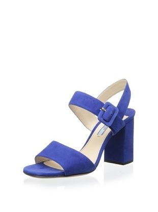 39% OFF Prada Women's Thick Heel Sandal (Bluette)