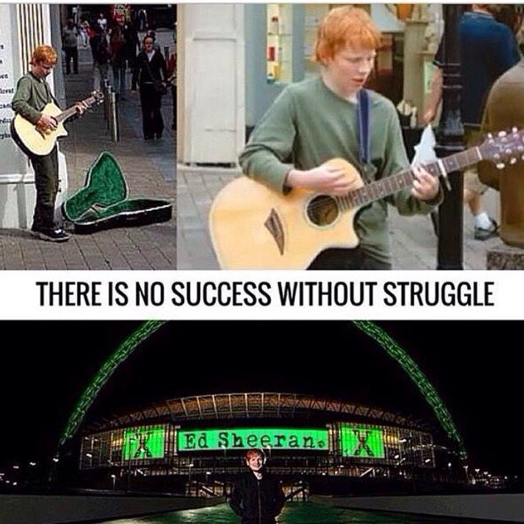 ED SHEERAN♡ Awe he has come so far and fought so hard for his dream:')