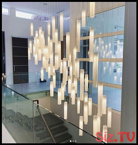Stairway Hanging Light Modern Chandelier For High Ceiling Spaces Fully Customized Modern Chandelier High Ceiling Lighting Staircase Chandelier