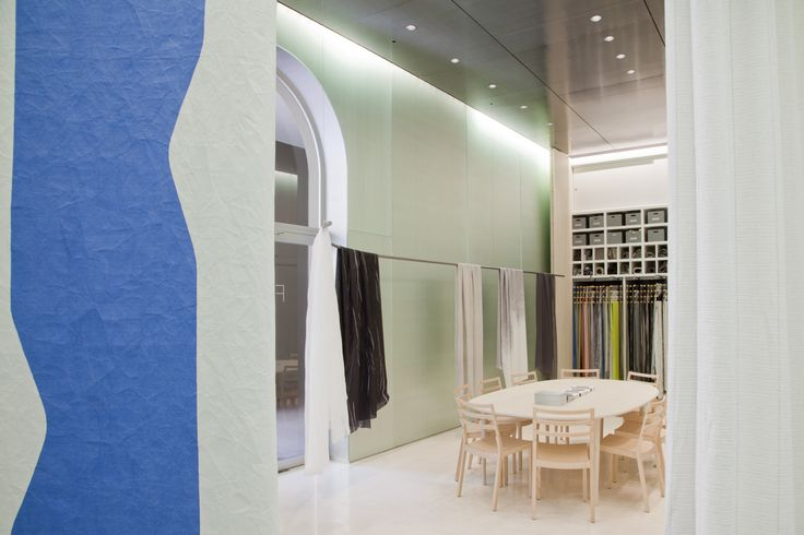 Kinnasand's light-filled showroom in Milan beautifully showcased the FACES collection