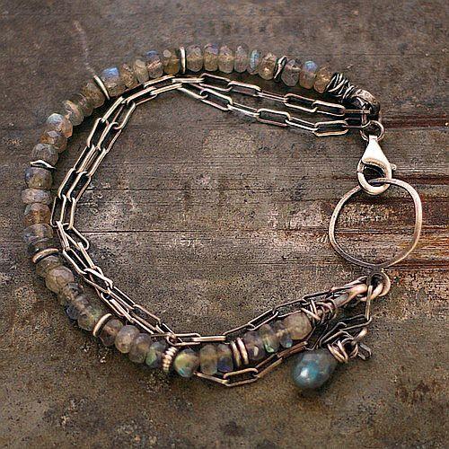 SALE USE COUPON Baltic amber bracelet labradorite by ewalompe