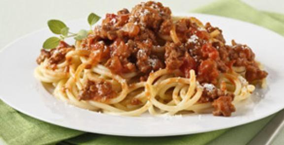Nigellissima Spaghetti with Zesty Bolognese   KitchenDaily.com