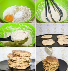 Υγιεινές Τηγανίτες Βρώμης Με μήλο (Χωρίς Αλεύρι!) -- Healthy Oatmeal Pancakes with Apple (without Flour!)