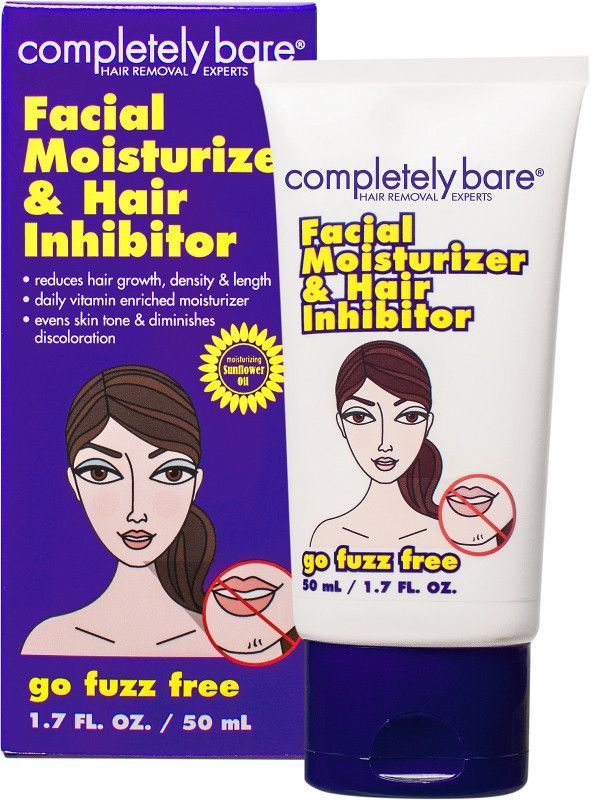 4 Pack - Completely Bare go fuzz FREE Facial Moisturizer & Hair Inhibitor 1.7 oz Skin 2 Skin Care White Tea Clay Mask