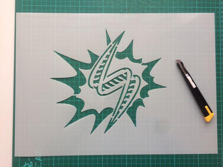 Custom logo stencil - www.createcuts.com