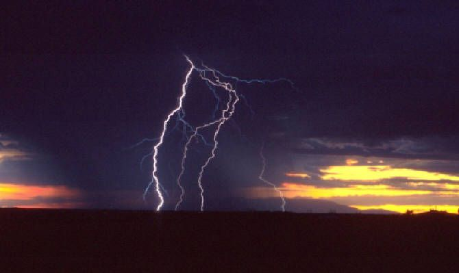 Aviation Weather - Lightening storms are not good to fly into. Lightening strikes can short out all your electronics or worse!!