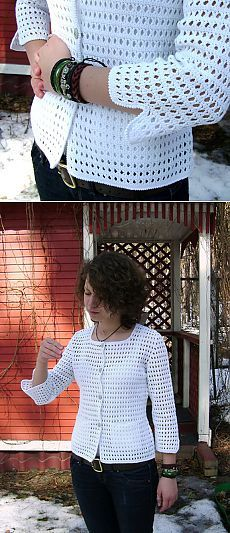 W interesting crochet jacket with simple patterns + video.