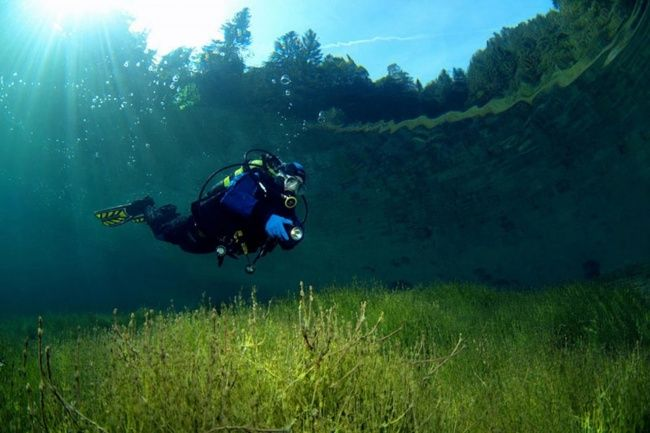 Lake Sameranger with beautiful clear water. Tyrol, Austria.