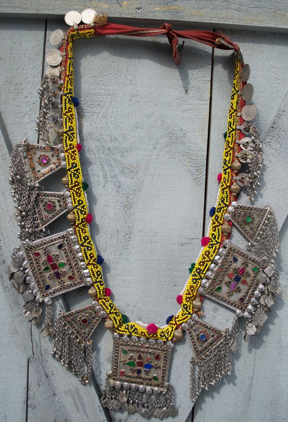 Vintage Kuchi Camel Pendant Set Dance Necklace Tribal by UberKuchi