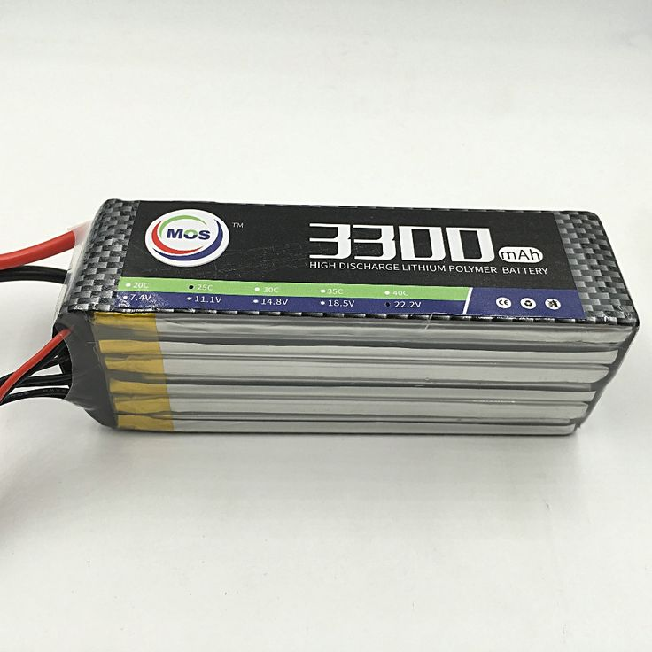 (42.22$)  Know more  - MOS 6S RC airplane Lipo battery 22.2v 3300mAh 35C For rc helicopter quadcopter Li-Polymer battey 6s