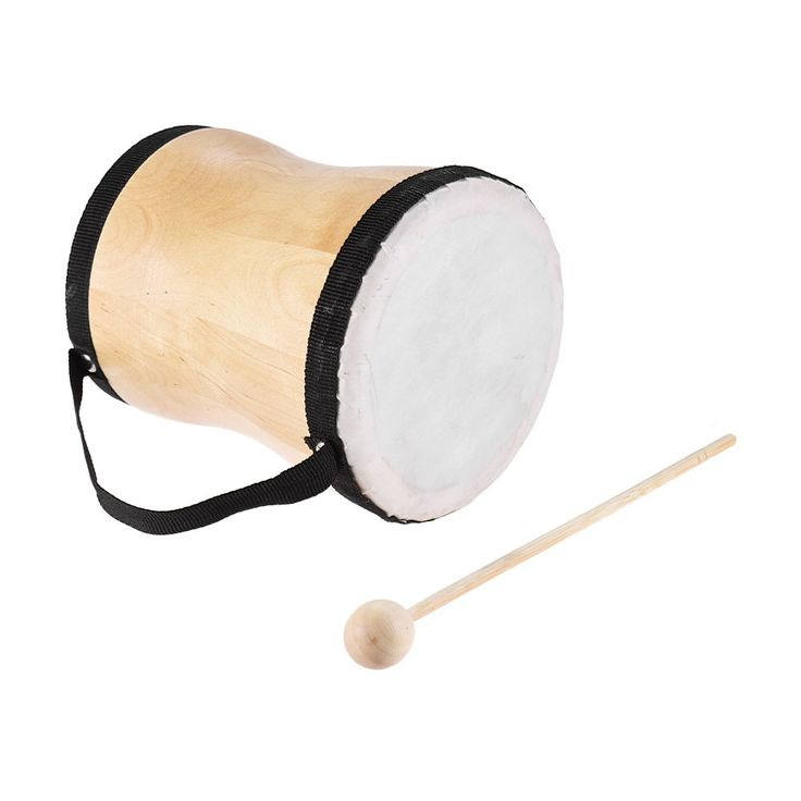 Wood Hand Bongo Drum Musical Toy Percussion Instrument with Sales Online beige warm white - Tomtop.com