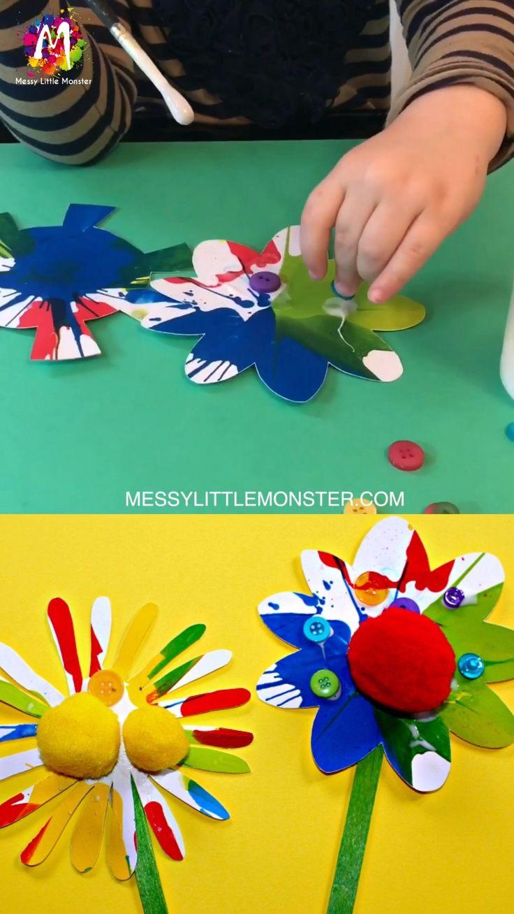 Rainbow Flower Craft for kids